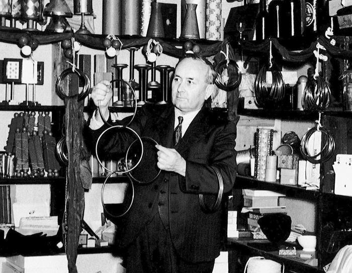 Percy Laidler in the Play Shop