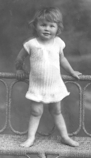Bertha Laidler as a baby