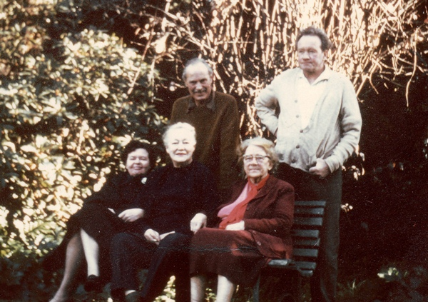 Bertha Laidler and friends in the 1960s