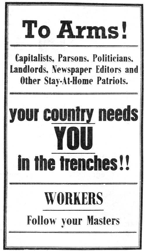 IWW antiwar poster